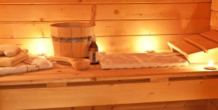 Sauna Finlandais au Chalet d'en Hô, hotel spa à Névache, Hautes-Alpes