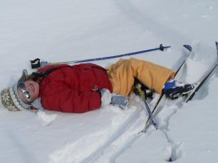 Enfant en Ski de Fond à Névache